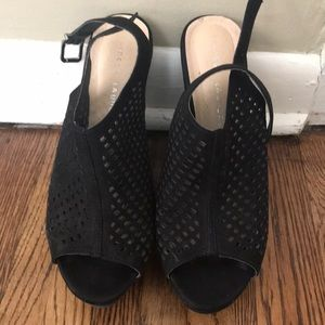 Black wedges size 9.5